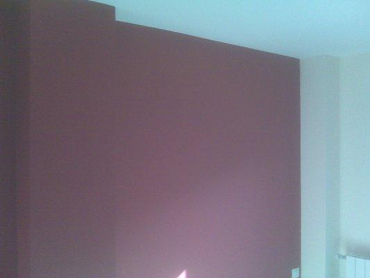 Dormitorio Plastico Color Rojo y Beige - Pinturas Urbano