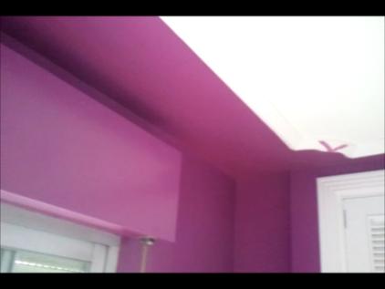 Lacado de paredes color malva