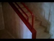 Barandilla escalera en esmalte rojo