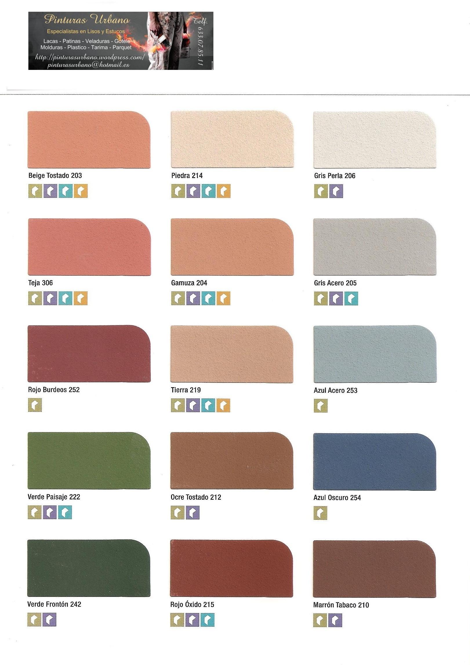 Carta de colores fachadas pintores en madrid pintor en for Colores de pintura para pared