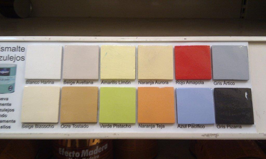 Esmalte para azulejos pintores en madrid pintor en for Muestrario de azulejos