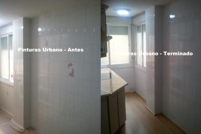 Pintado de azulejos de cocinas y ba os pintores en for Cubrir azulejos bano
